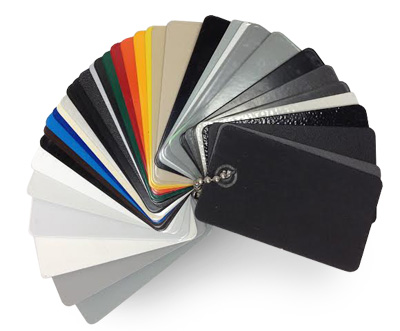 Power Coating Color Swatches